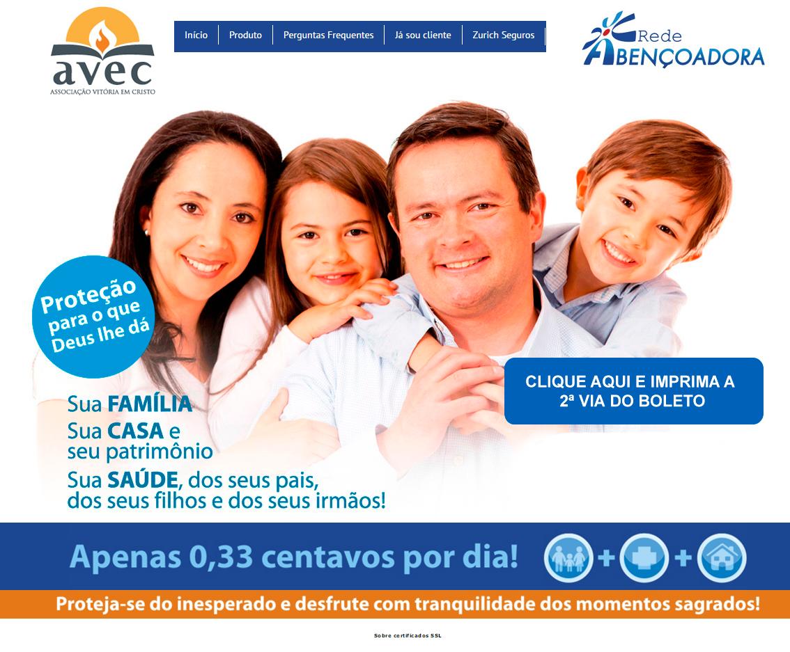 BABENKO agencia publicidade - desenvolvimento sites AVEC - Rede Abencoadora