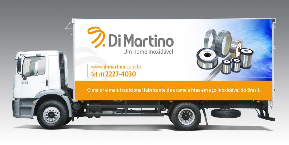 Babenko agencia de publicidade - Adesivacao Veiculos Empresa Frota - Identidade visual - Caminhao Di Martino (lateral)