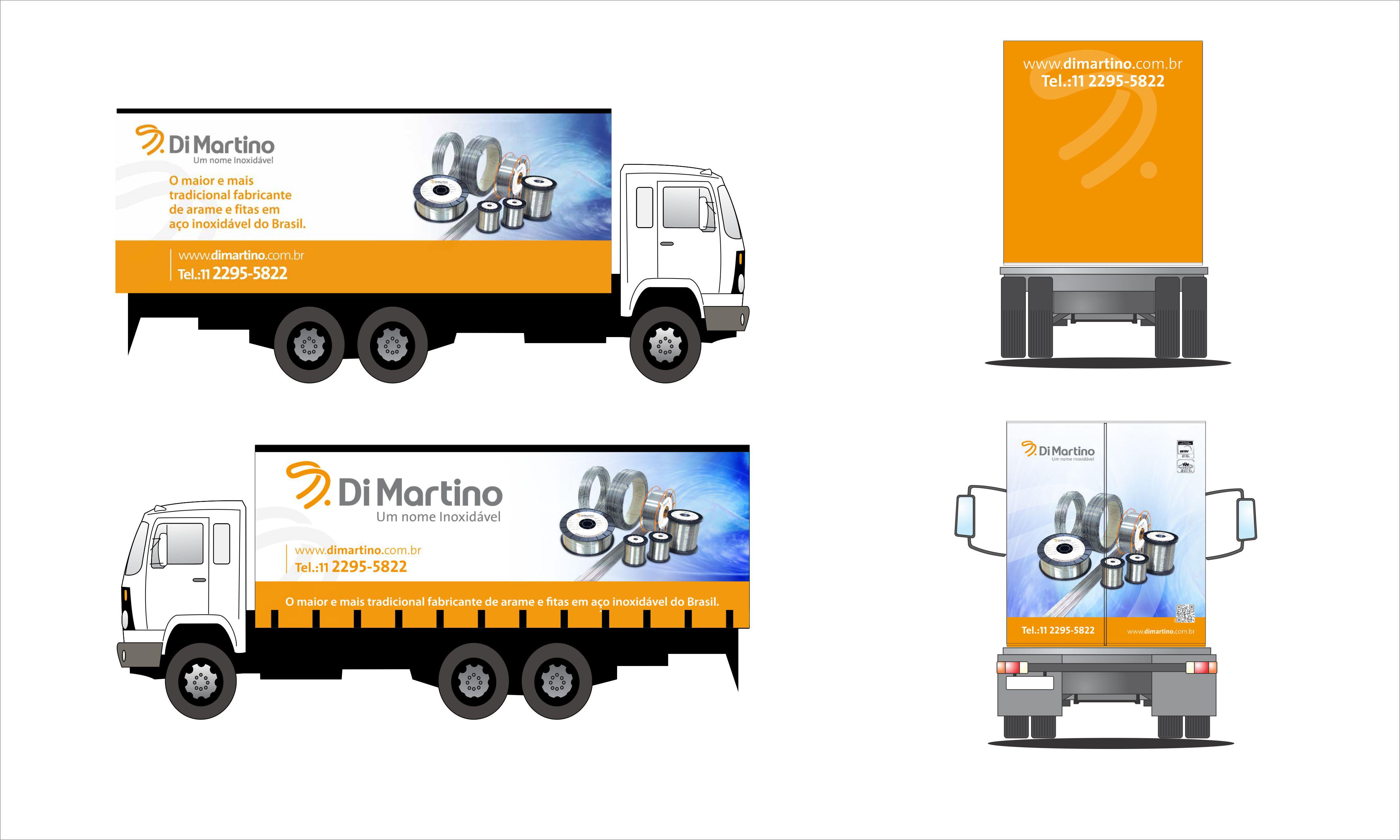 Babenko agencia de publicidade - Adesivacao Veiculos Empresa Frota - Identidade visual - Caminhao Di Martino v1