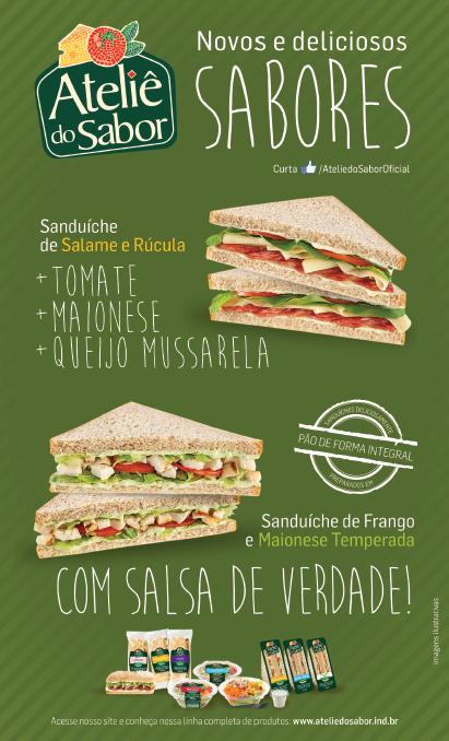 BABENKO agencia publicidade - Criacao de Cartazes e Banner Sanduiches Atelie do Sabor