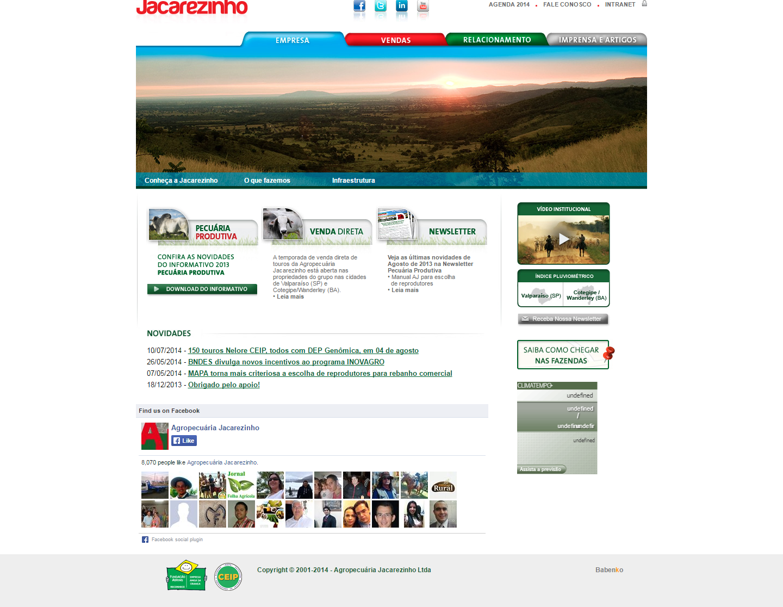 BABENKO agencia publicidade - Desenvolvimento Criação de Design de Sites Agropecuaria Jacarezinho 2012