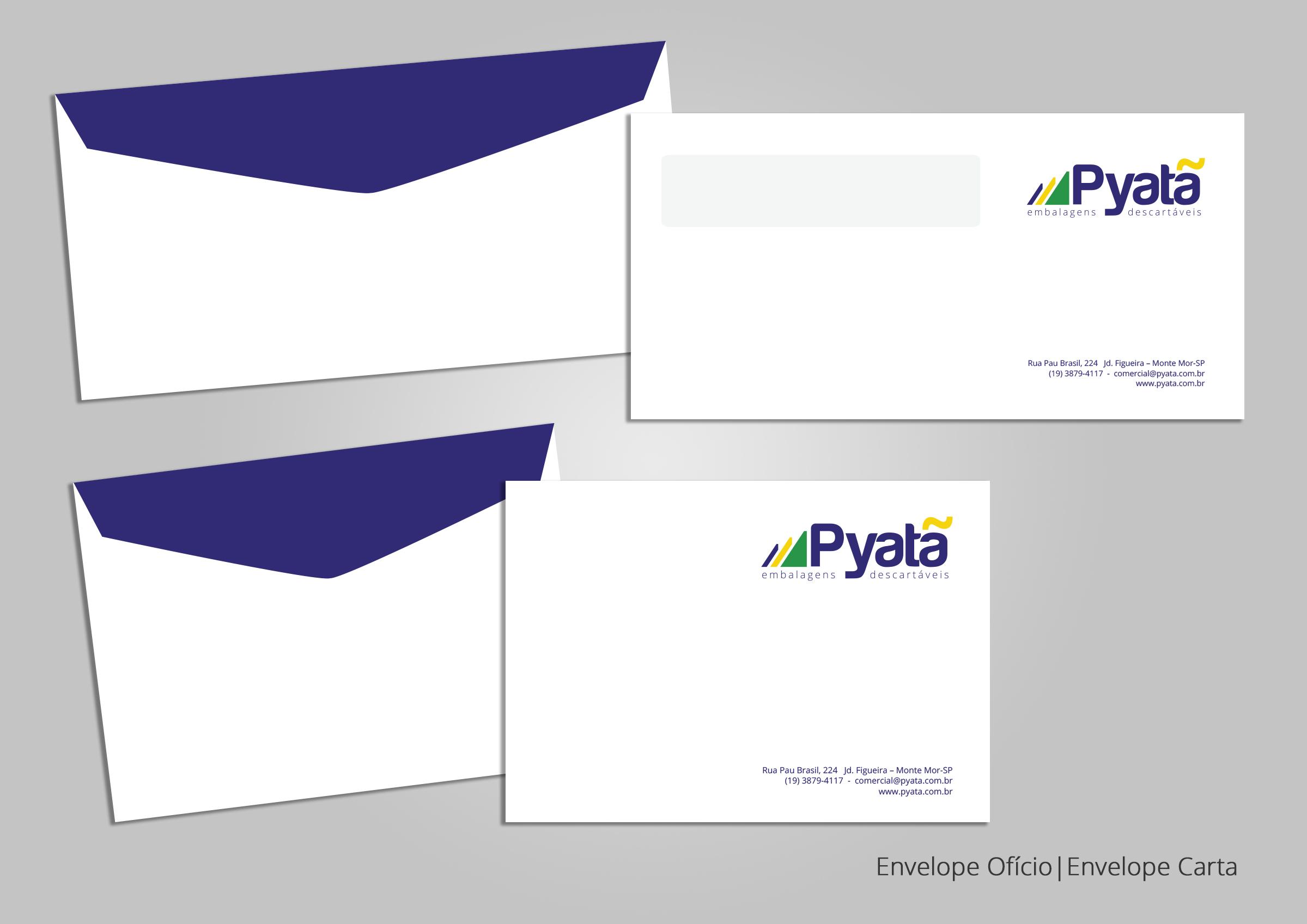 BABENKO agencia publicidade - Papelaria Identidade Visual - Envelope Pyata