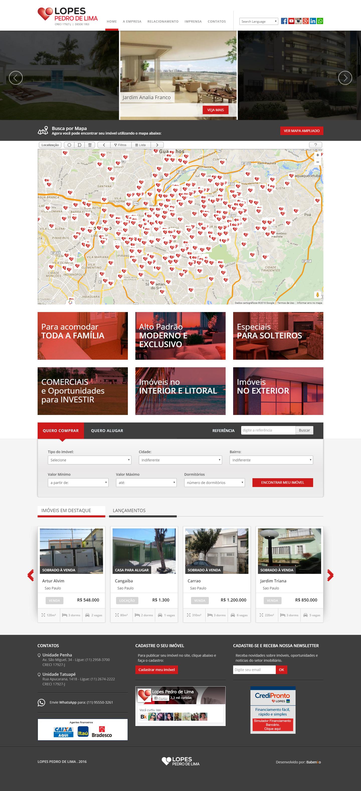 BABENKO agencia publicidade - Desenvolvimento Criação de Design de Sites para Imobiliaria Pedro de Lima