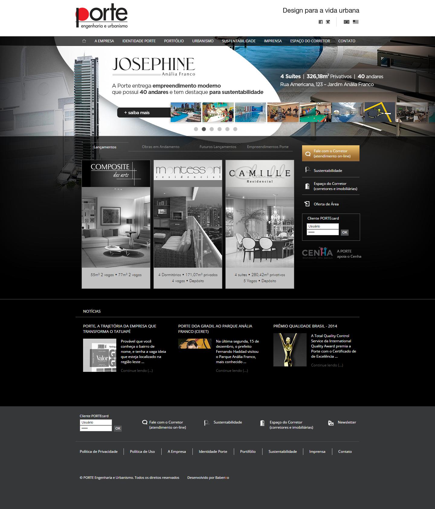 BABENKO agencia publicidade - Desenvolvimento Criação de Design de Sites para Porte Construtora