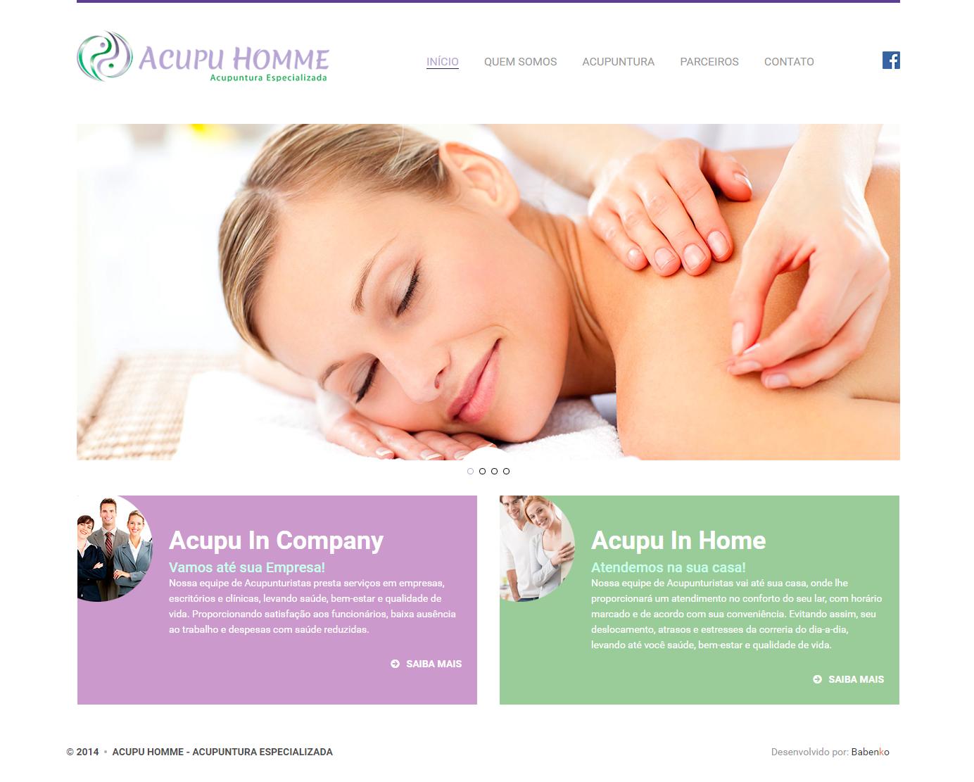 BABENKO agencia publicidade - Desenvolvimento Criação de Design de Sites AcupuHome