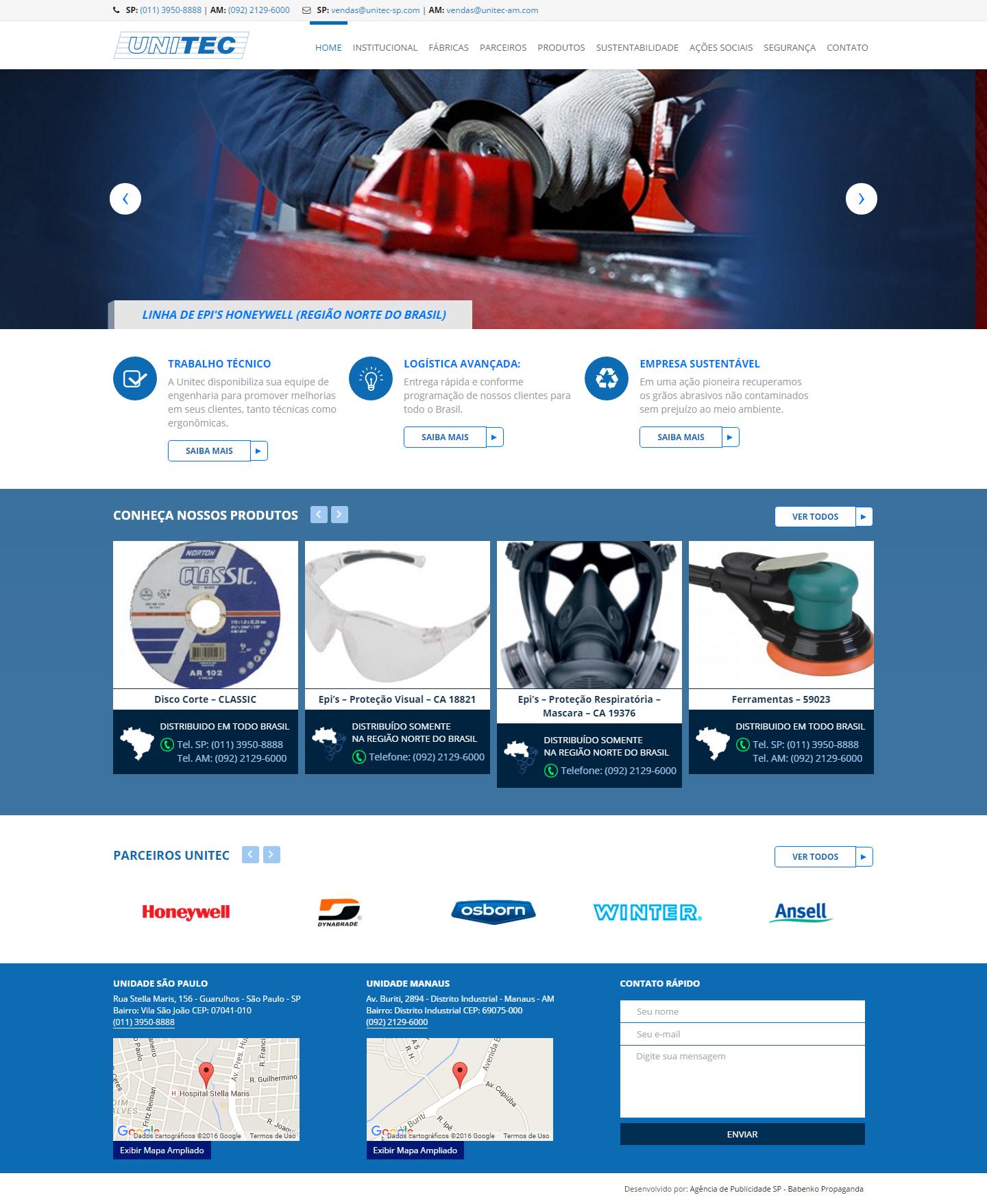 BABENKO agencia publicidade - Desenvolvimento Criação de Design de Sites Unitec
