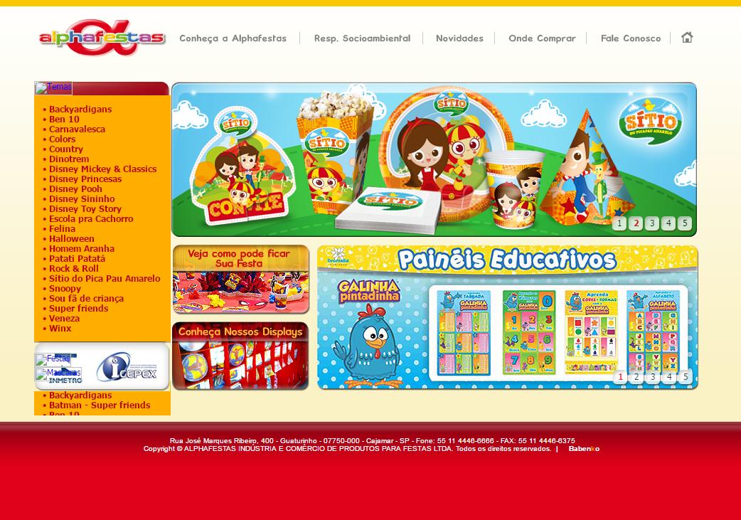BABENKO agencia publicidade - Desenvolvimento Criação de Design de Sites Alphafestas
