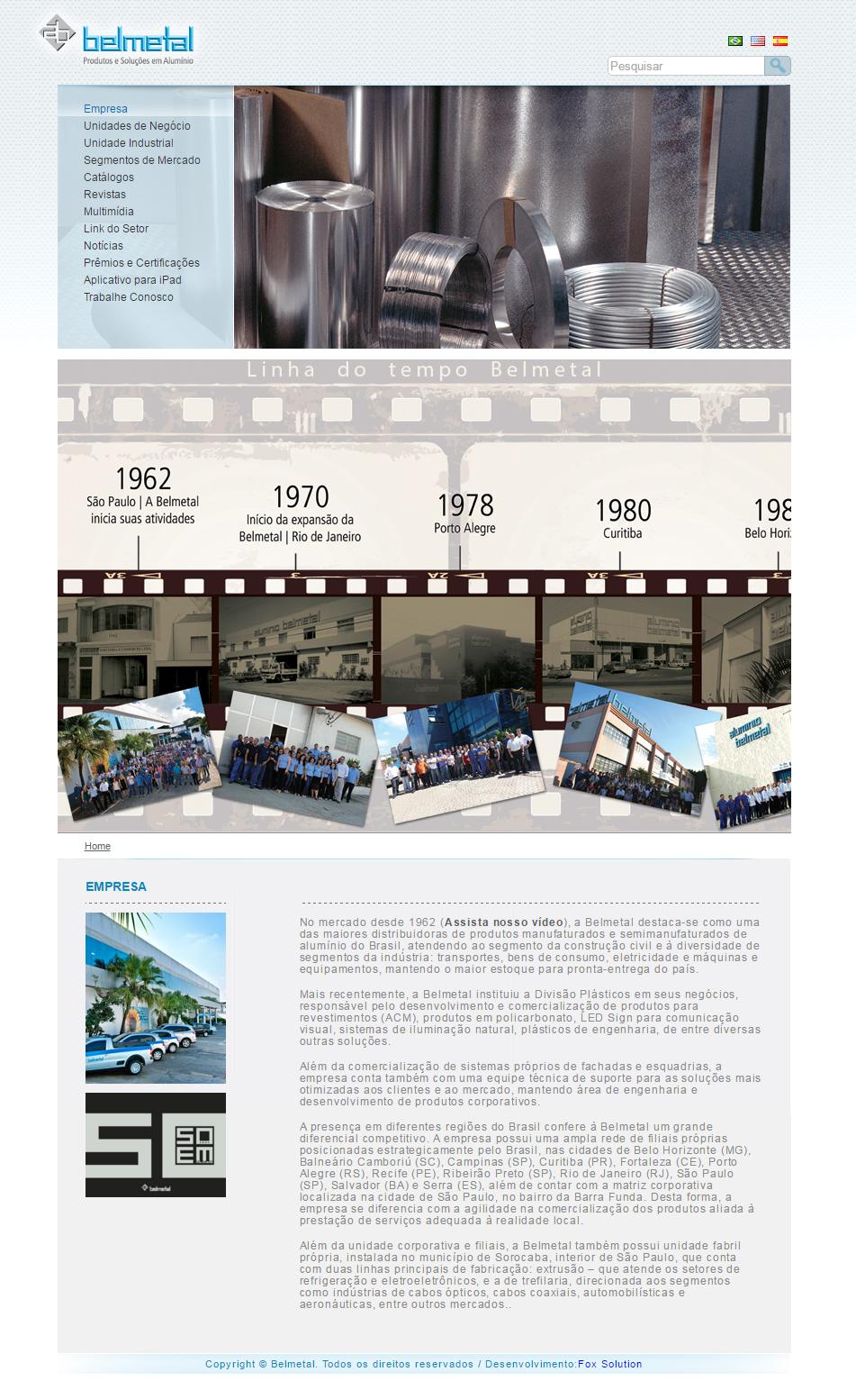 BABENKO agencia publicidade - Desenvolvimento Criação de Design de Sites Belmetal