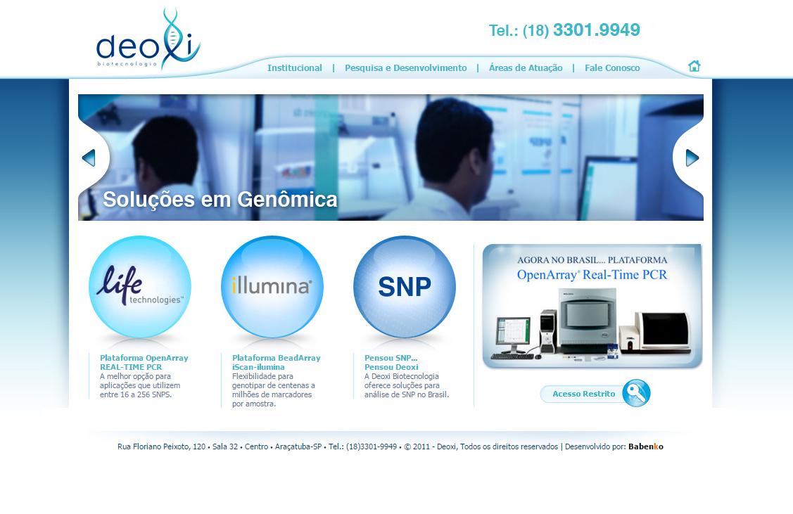 BABENKO agencia publicidade - Desenvolvimento Criação de Design de Sites Deoxi