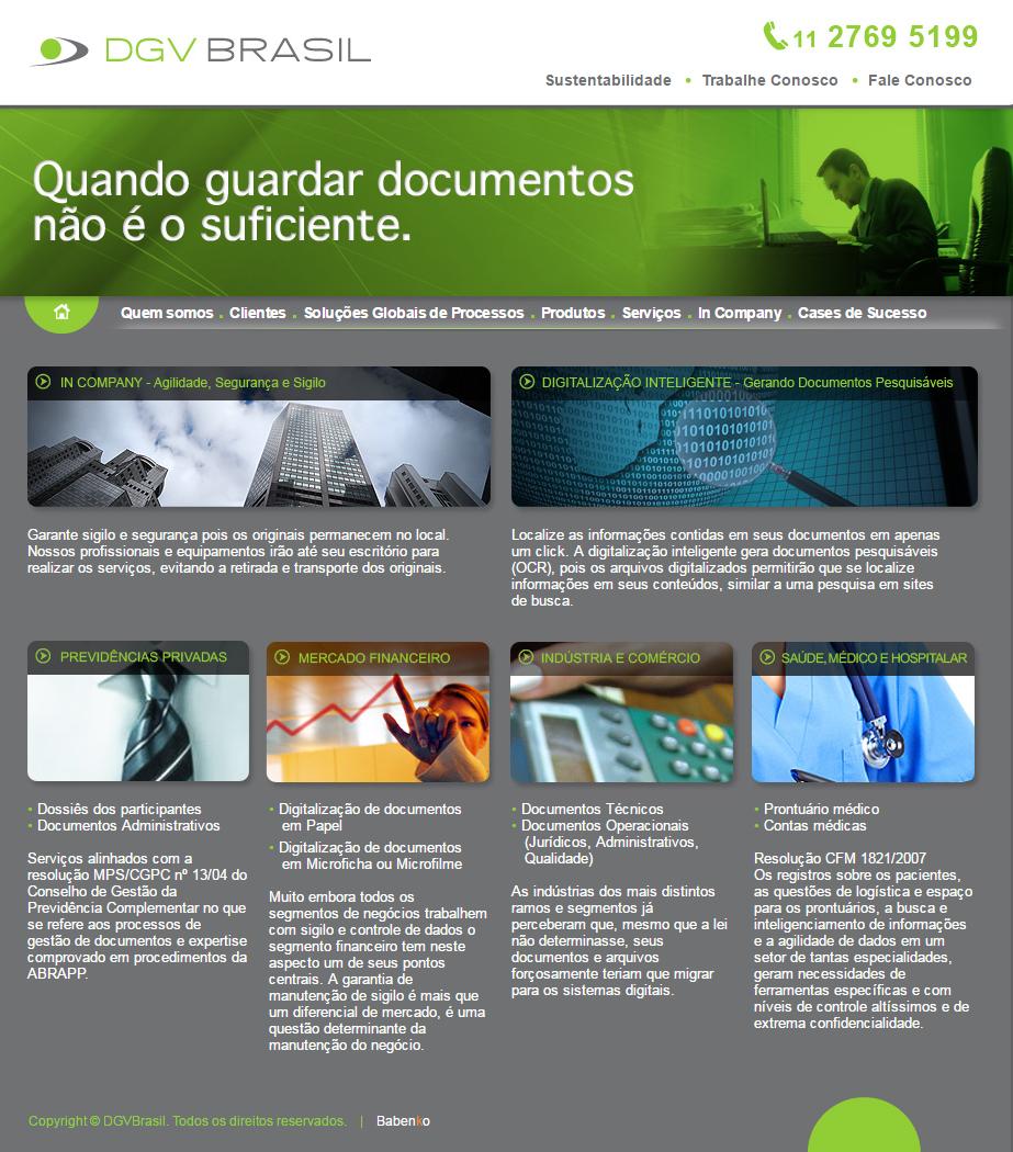 BABENKO agencia publicidade - Desenvolvimento Criação de Design de Sites Dgv digitalizacao