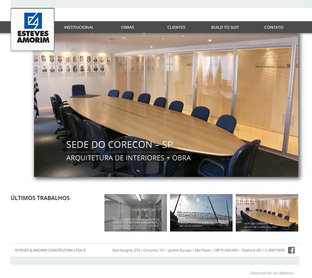 BABENKO agencia publicidade - Desenvolvimento Criação de Design de Sites Esteves e Amorim