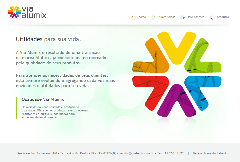 BABENKO agencia publicidade - Desenvolvimento Criação de Design de Sites Via Alumix