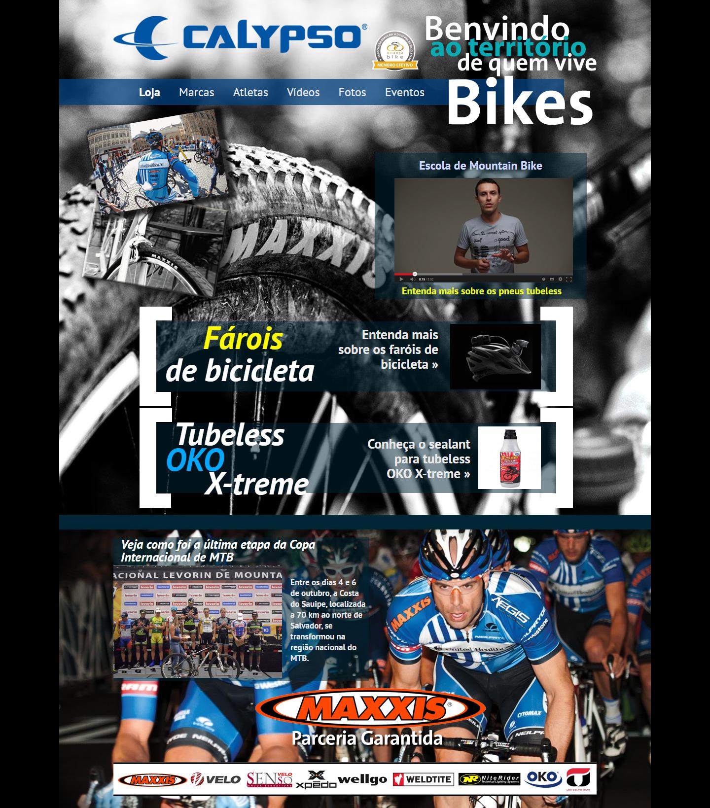 BABENKO agencia publicidade - Desenvolvimento Criação de Design de Sites Calypso Bikes