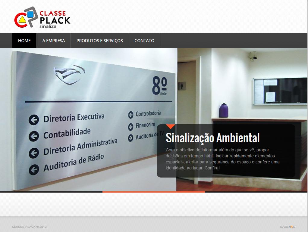 BABENKO agencia publicidade - Desenvolvimento Criação de Design de Sites Classe Plack