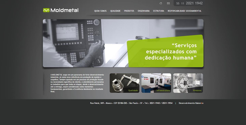 BABENKO agencia publicidade - Desenvolvimento Criação de Design de Sites MoldMetal