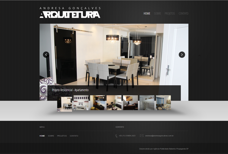 BABENKO agencia publicidade - Desenvolvimento Criação de Design de Sites Andressa Arquitetura