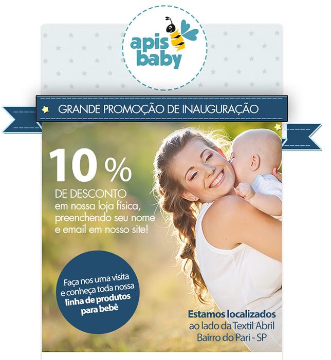 BABENKO agencia publicidade - Criação de Email Mkt Institucional Promocao e Data Comemorativa - Apis Baby