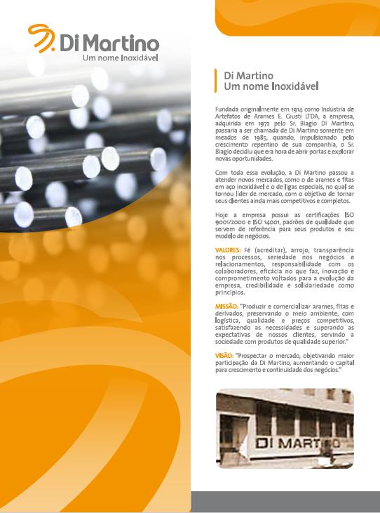 BABENKO agencia publicidade - Folder Institucional Di Martino - Frente