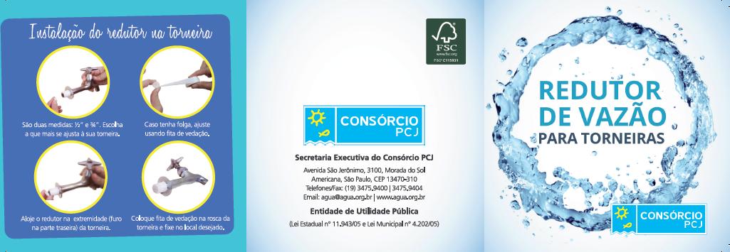 BABENKO agencia publicidade - Folder Institucional Redutor de Vazao PCJ