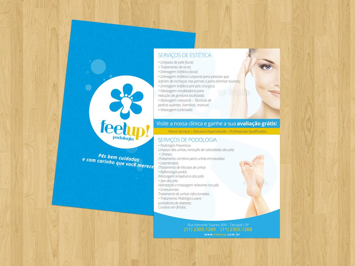 BABENKO agencia publicidade - Criação Flyer Institucional Feet up